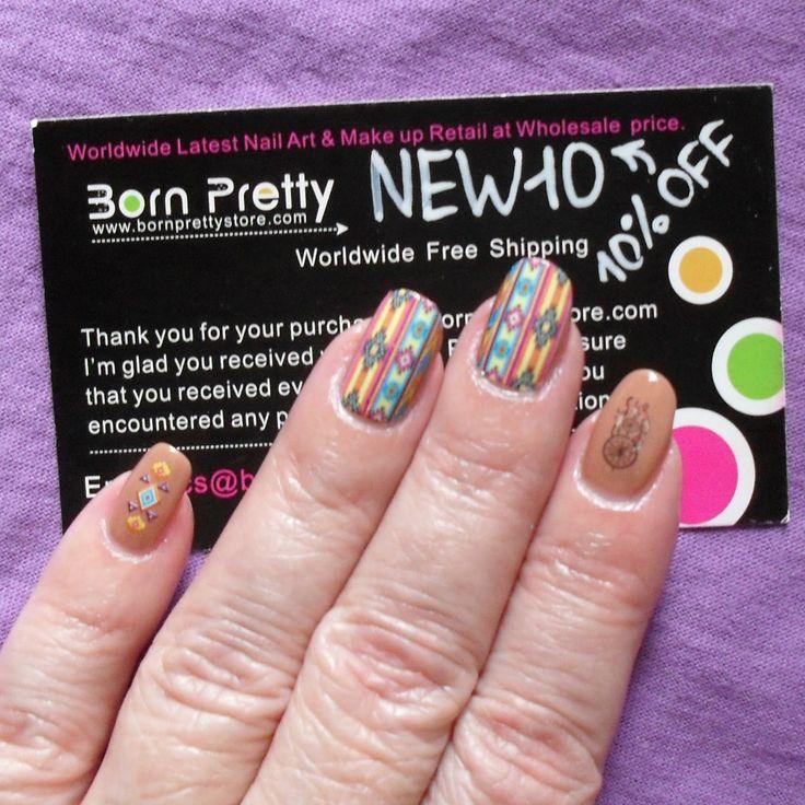 Обо всём и ни о чём: Племенные Узоры. Переводные наклейки для ногтей / Tribal Patterns Water Decals Nail Art Stickers от BornPrettyStore