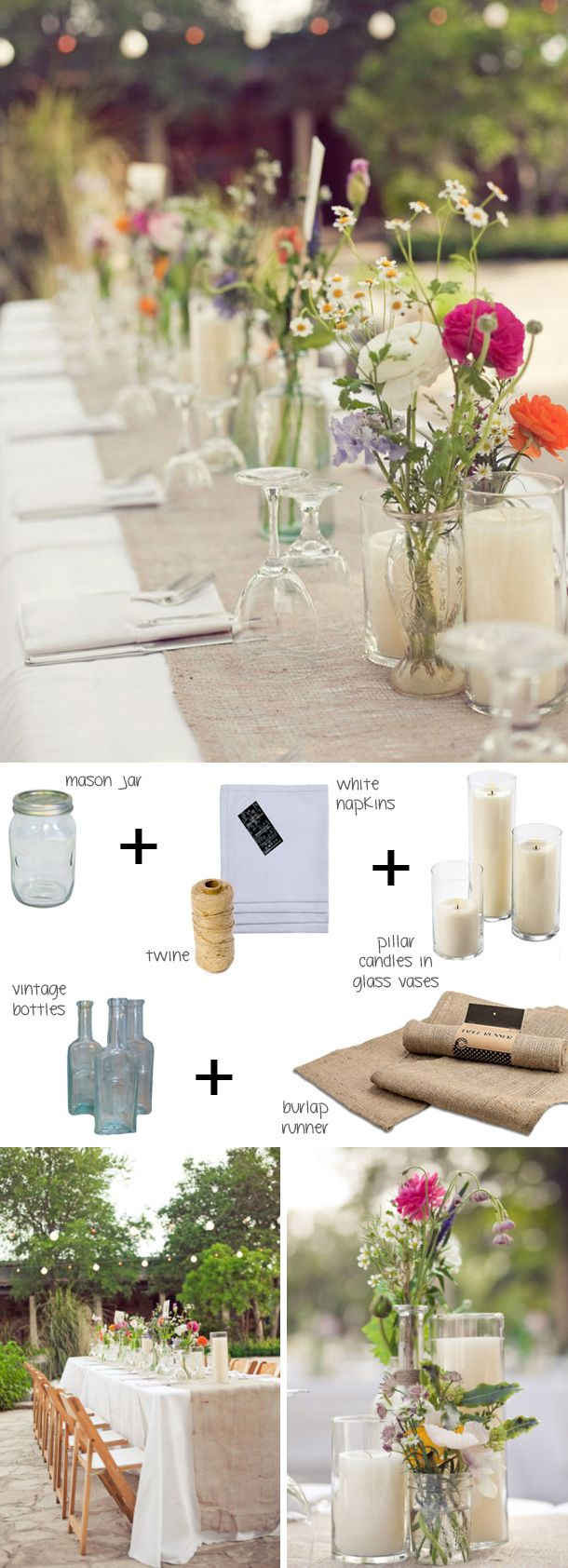 How to style a boho tablescape (budget boho) | SouthBound Bride | http://www.southboundbride.com/ten-tables-boho-part-2 | Credit: The Nichols/La Fleur Vintage via Style Me Pretty