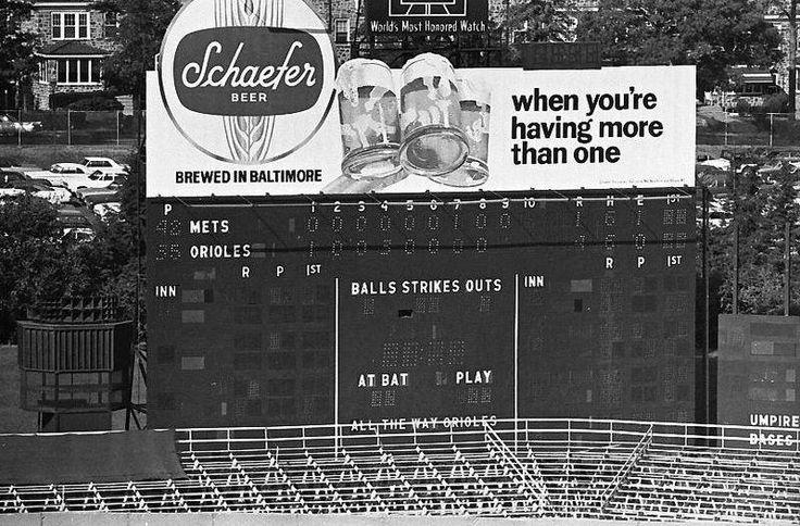 Scoreboard, Memorial Stadium, Baltimore, MD 1969 World