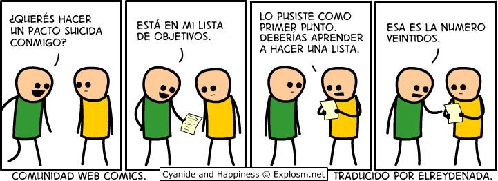 Cianuro & Felicidad 19/03/2012  Fuente: http://www.taringa.net/posts/humor/14432165/Cyanide-Happiness-de-Marzo-2012-hasta-la-fecha.html
