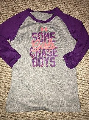 Under Armour Girls Long Sleeve Heat Gear Size 6 Some Girls Chase Boys I Pass     eBay #underarmour #girls #shop #shirt #buy #clothes
