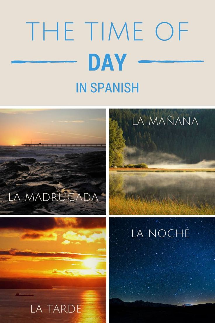 How to Tell The Time In Spanish, Time Based Greetings and The Merits of an Early Start