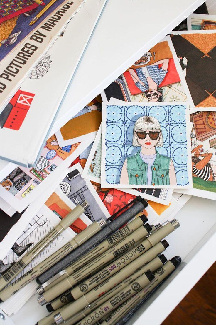 Студия иллюстратора | NM House  Если вы когда-нибудь заглянете в штат Арканзас, обязательно посетите городок Литл Рок. Там находится уютная студия иллюстратора Салли Никсон. Вы наверняка найдете ее увлеченно работающей над очередным проектом, и, дожидаясь возвращения Салли из мира искусства, сможете поиграть с ее верным «напарником» и другом – собакой Сьюки. #art #illustration