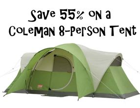 Save 55% off a Coleman 8-Person Tent ~ Today Only!