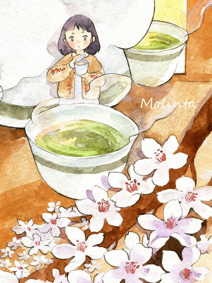茶妹-molinta__涂鸦王国插画