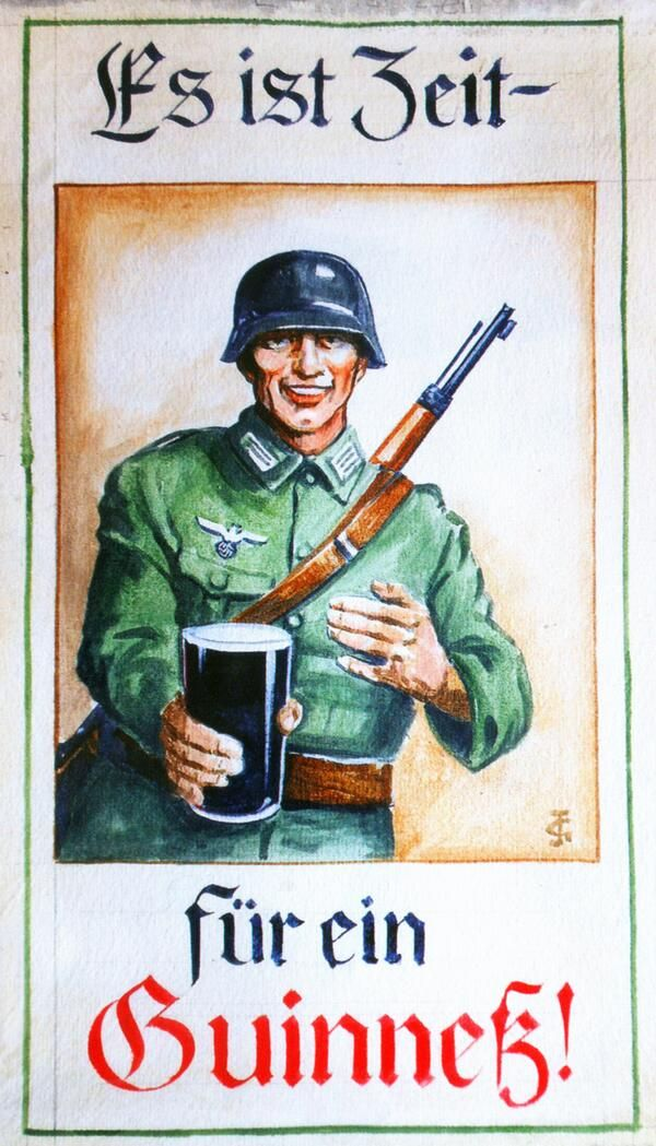 "Guinness planned to advertise in Nazi Germany during the 1936 Olympics (""It's time for a Guiness"")"