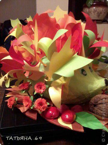 Поделки для мальчиков Праздник осени На праздник Осени - Подарки от ежика Бумага фото 3