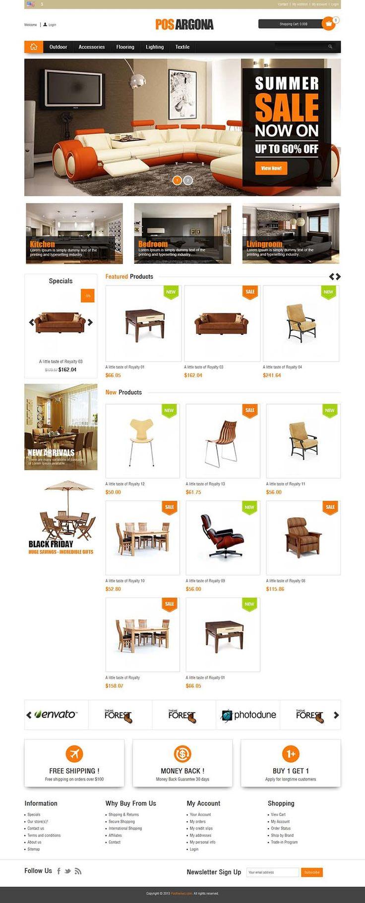 Pos Argona - Responsive #Prestashop Theme for Furniture, Watches, Bikes