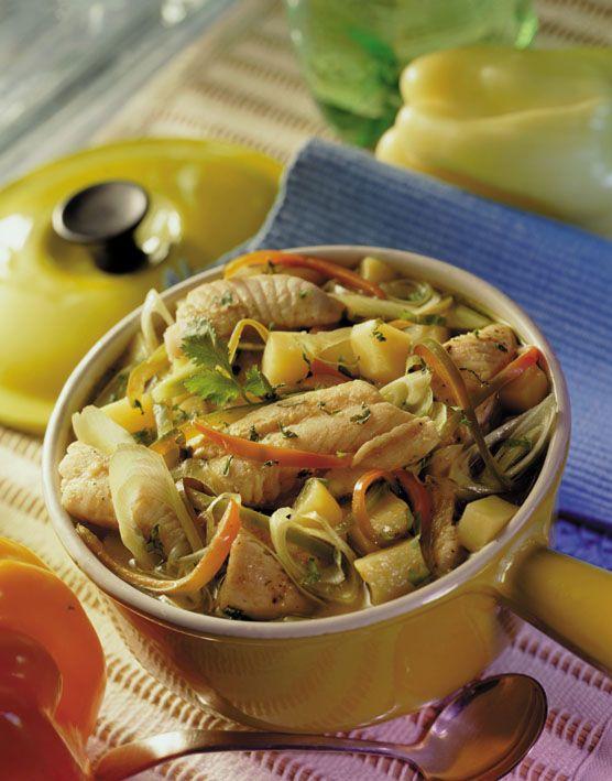 El sabor del pescado sazonado con lo mejor de las verduras, una preparación deliciosa.