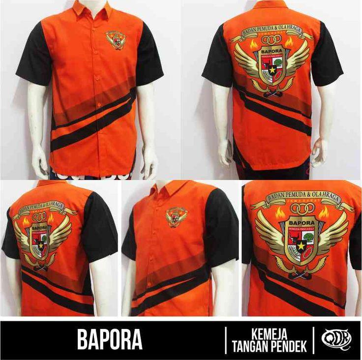 Kemeja Bapora Bapora Orange Sublimation Print  By. Qita Design Jl. CIbolerang No.115 Bandung