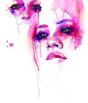 Marion Bolognesi Watercolor Faces #bengbuzz @bengny