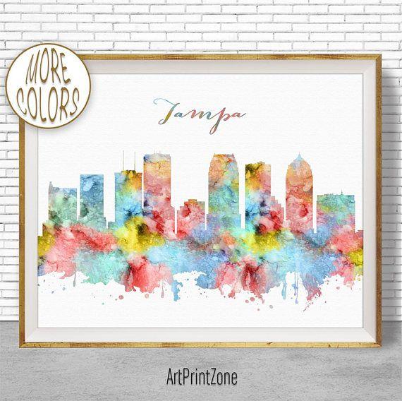 $8.00 Tampa Art Print, Tampa Print, Tampa Skyline, Tampa Florida, Office Decor, City Skyline Prints, Skyline Art, Cityscape Art, ArtPrintZone #SkylineArt #TampaPrint #TampaSkyline #CityArtPrint #ArtPrint #CitySkylinePrints #ArtPrintZone #TampaFlorida #CitySkylineArt #CityscapeArt