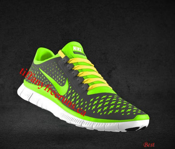Cheapest Mens Nike Free 3.0 V4 Dark Grey Electric Green Wolf Grey Chrome  Yellow Lace Shoes