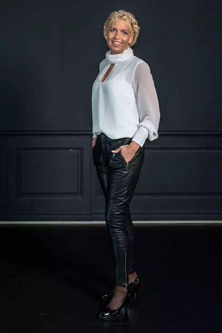 Barfota chiffon bluse hvit
