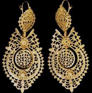"Brincos Rainha - "" Queen earrings "" - portuguese filigree - Coisas Portuguesas com Certeza ®: Filigrana Portuguesa"