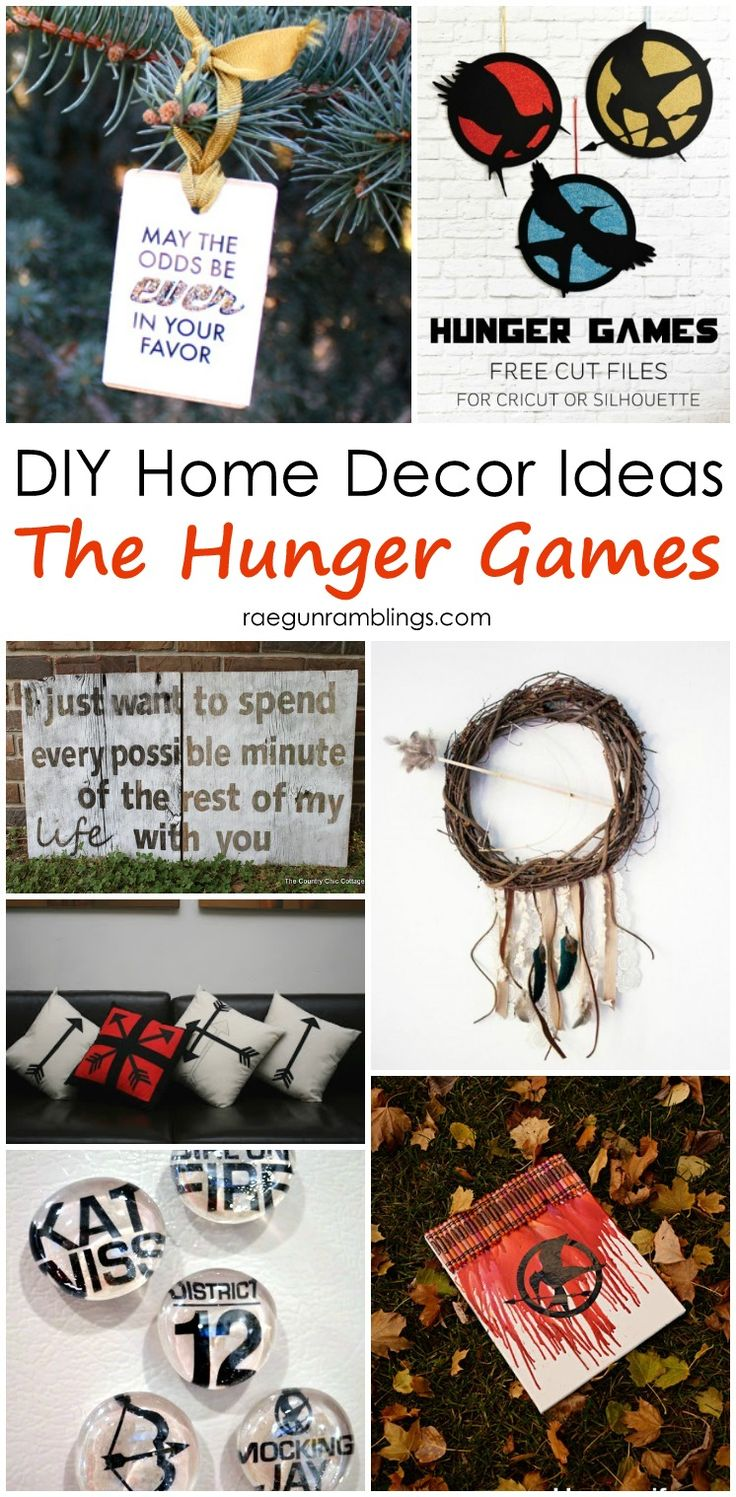 Great home decor ideas inspired by The Hunger Games. Good for parties and every day decorating