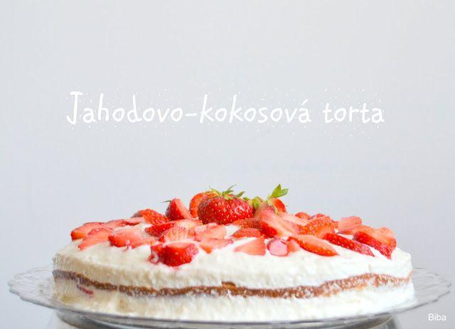 ...my little world: Jahodovo-kokosová torta bez múky