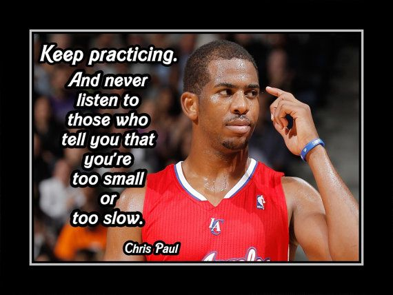 Basketball Motivation Poster Chris Paul Clippers Wall by ArleyArt