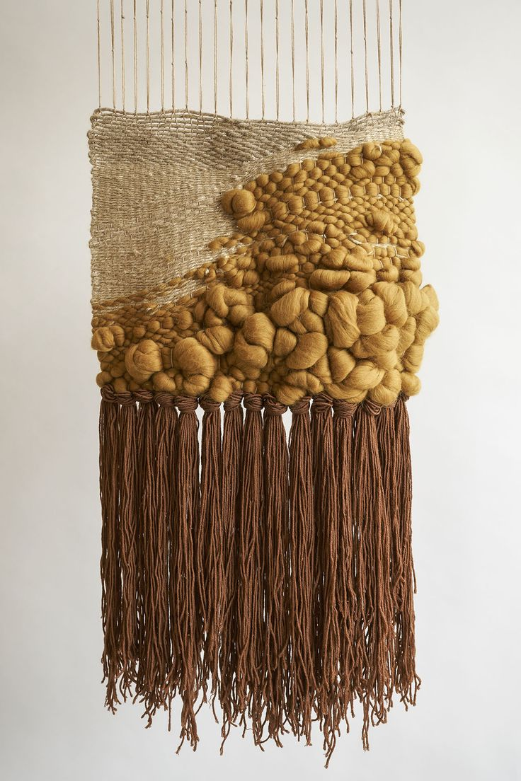 contemporary weaving by coolwoolstudio | wool and hemp