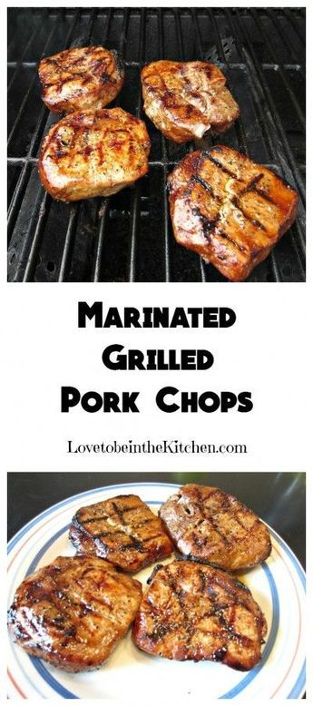 Marinated Pork Chops- A simple and flavorful marinade for the most tender and delicious Marinated Grilled Pork Chops you'll ever have!- Delicious!! All of us loved them!