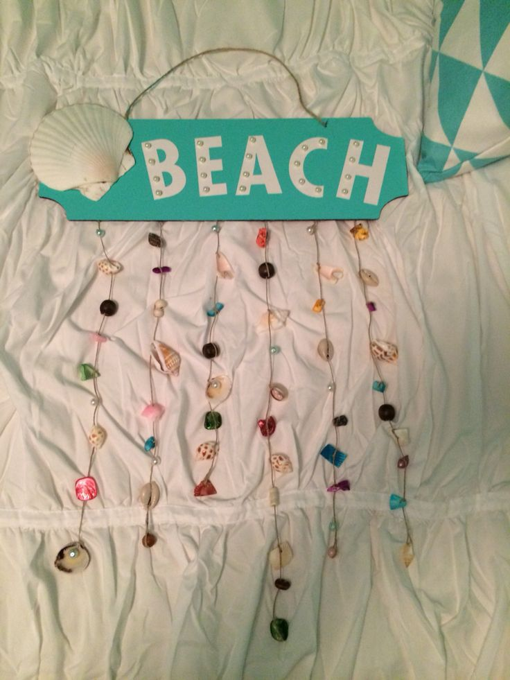 Beach sign I made for my room