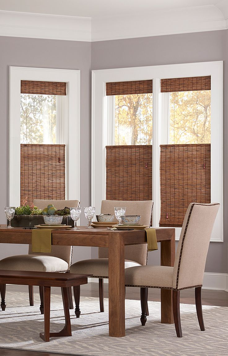 Blinds com Budget Woven Wood Shade in Malay Umber. 232 best Woven Wood Shades images on Pinterest