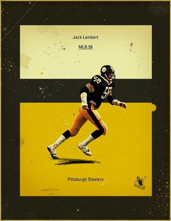 NFL's Greatest Defenses - 1970's Pittsburgh Steelers by Jon Rogers, via Behance #jonrogers #nfl, #steelers