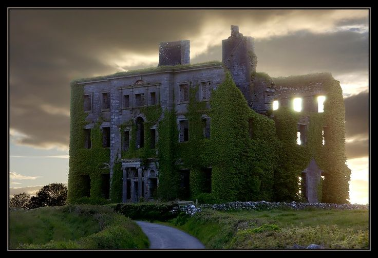 Ireland Abandoned by ~elementalist on deviantART  This beautiful old mansion is near Galaway, Ireland