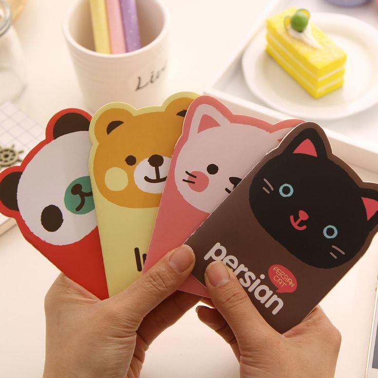 1 Фото 12X8.5 см Корейский Животных Panda Cat Медведь Kawaii мини Блокнот Мило Ноутбук Мультфильм Обратите Внимание, Книга Небольшой Школьные Принадлежности Для малыш купить на AliExpress