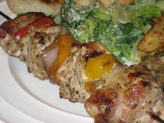 Simplement entre nous: Brochettes de poulet César