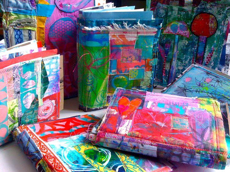 patchwork textile sketchbook