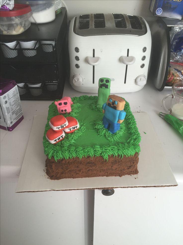 Mind craft cake
