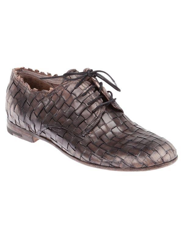 Shop Premiata woven lace-up shoe.