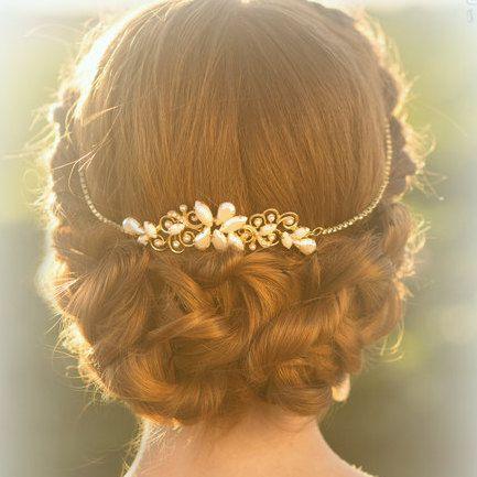 Bridal headpiece Wedding tiara Bridal tiara by Ayajewellery