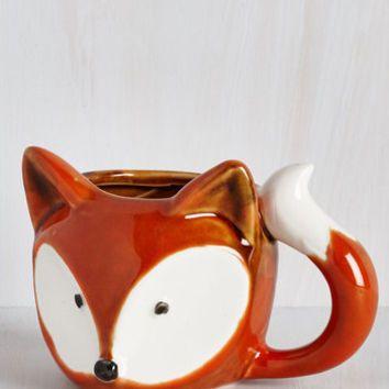Woodland Creature A Real Fox-er Upper Mug by ModCloth