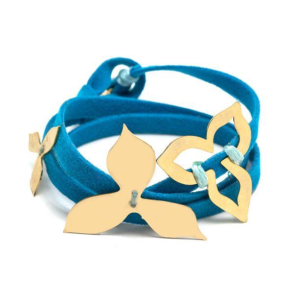 Golden Flower Blue