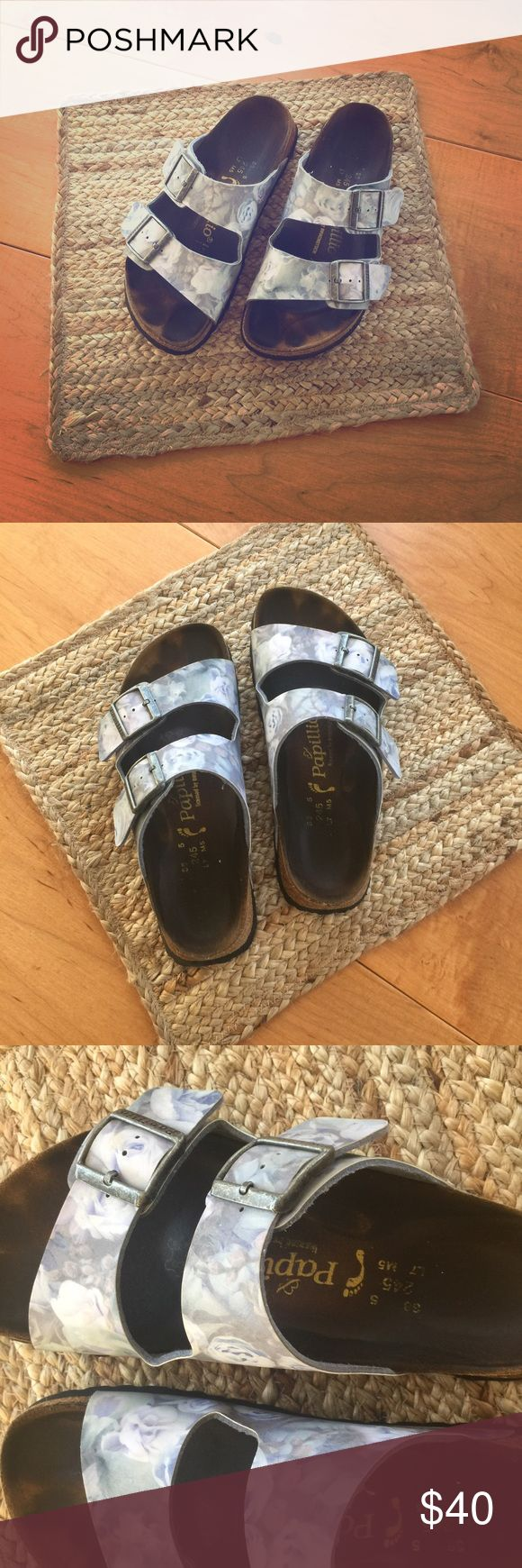 Size 8 floral birks! Used condition, but still lots of life left! Size 8 and very comfy! Ask before you buy!! Birkenstock Shoes