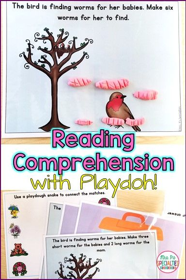Target reading comprehension in a fun and engaging way with read and do playdoh mats!! My students beg to work on these... they have no idea that they are working on reading and reading comprehension skills!!! This set is perfect for reluctant readers, special education classrooms, speech therapy, hands on reading centers, reading specialists, remedial reading, early finishers, and more. This set is perfect for spring!