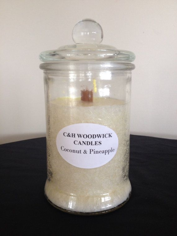 Coconut & Pineapple Woodwick palm wax candle by ChristalClean