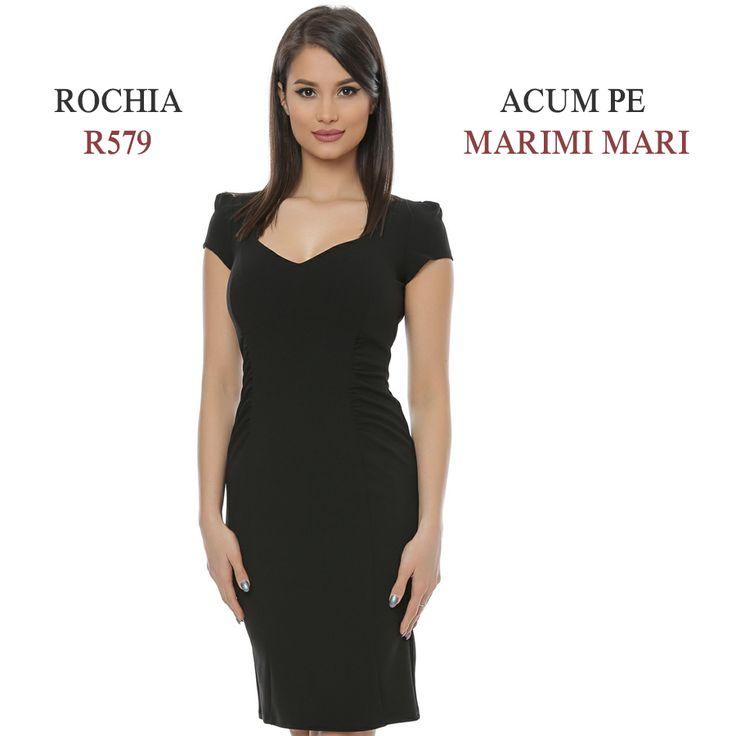 Mult îndrăgita rochie R579 este de acum disponibilă și pe mărimi mari, pentru ca tu să te bucuri de un stoc variat și diversificat. Link produs: http://www.adromcollection.ro/645-rochie-angro-r579-2.html