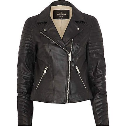 1000  ideas about Black Leather Biker Jacket on Pinterest   Black
