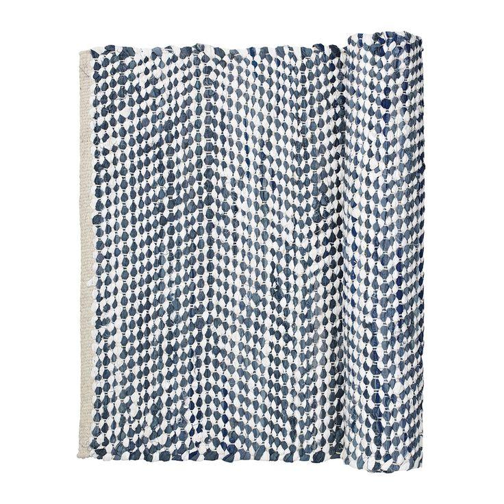 Broste Copenhagen Zigzag-Teppich - 70x140 cm - Insigniablau Kaufen | Amara