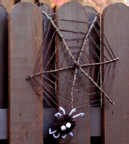 Паучок на паутине - Поделки с детьми | Деткиподелки