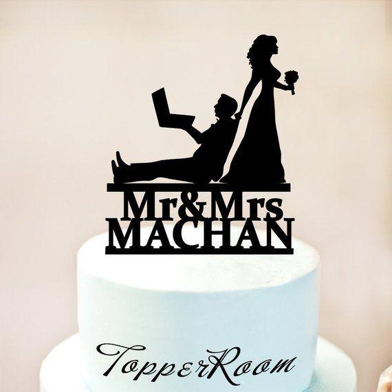 Computer Programmer Wedding Cake Topper Computer Programmer Cake
