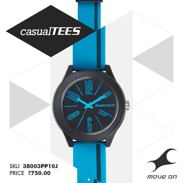 Easy does it. Introducing the #CasualTEES range of watches for guys and girls! http://fastrack.in/casualtees/