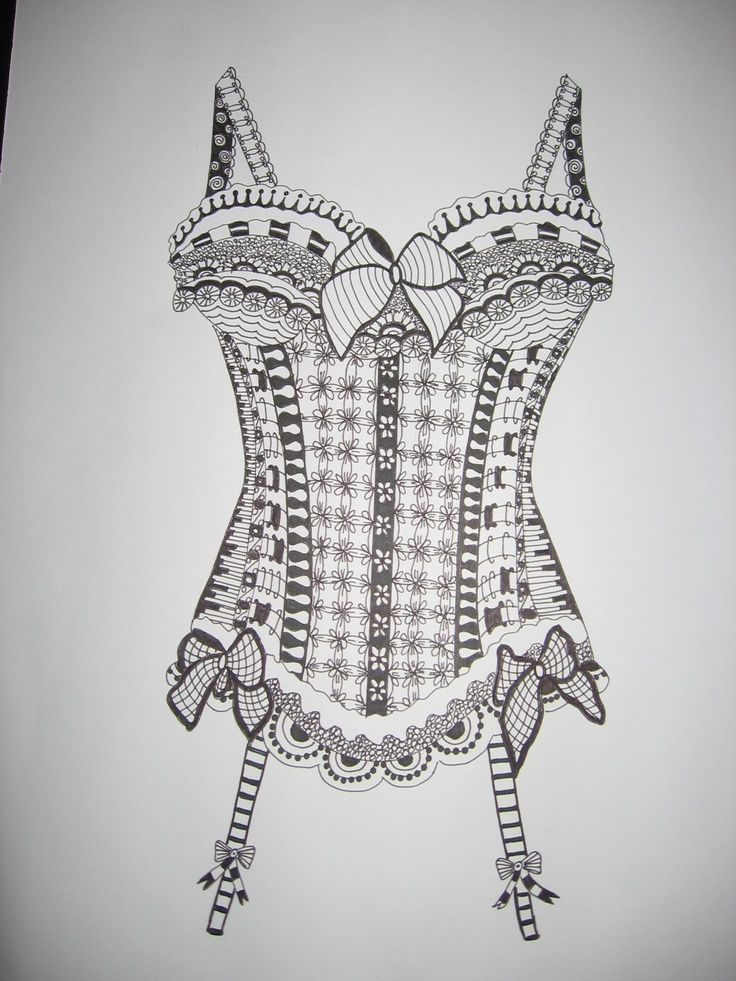 42 Best Images About Zentangle Clothes On Pinterest 142