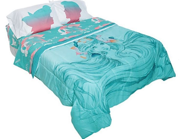 The Little Mermaid Ariel Sketch Full Queen Comforter 4