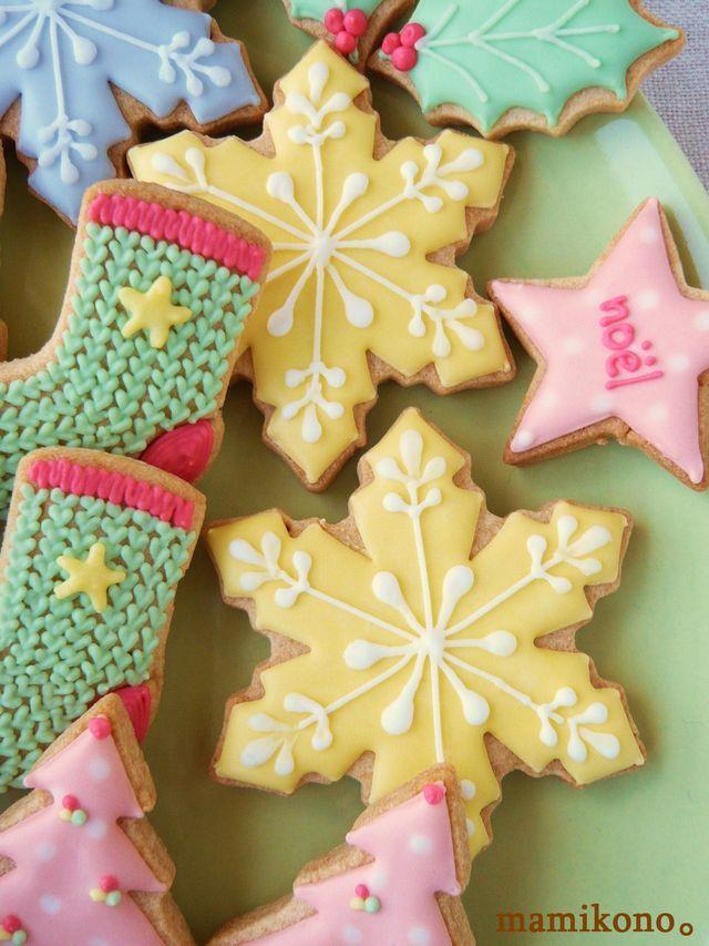 クリスマスのアイシングクッキー①。の画像:ハレの日おやつ。
