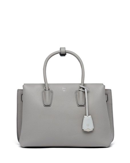 Milla Pebbled Leather Tote Bag by MCM at Neiman Marcus