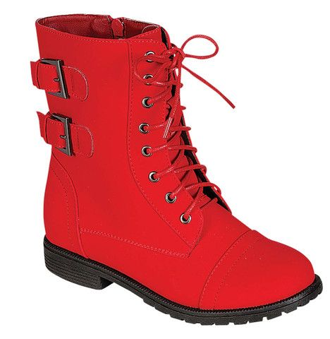 QQ Girl Cozy Ankle Boot in Red